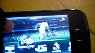 Pro Evolution Soccer 2012 Game Android Samsung Galaxy Gio