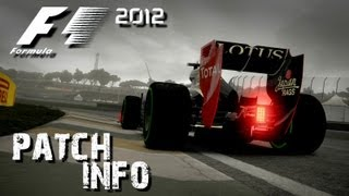 F1 2012 – Xbox and PS3 First Patch INFO