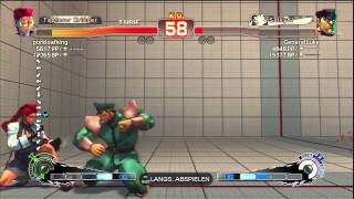 Super Street Fighter 4 WolfKrone(C.Viper) vs GeneralLuke (M.Bison) On PS3 HD 720p