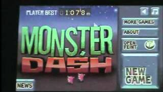Monster Dash app review for ipod,iphone,and ipad