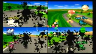 04.26.2012 Mario Kart Wii 4-Player Splitscreen