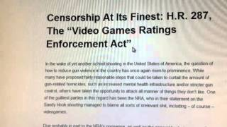 The &#8220;Video Games Rating Enforcement Act&#8221; (H.R. 287) and what you need to know about it.